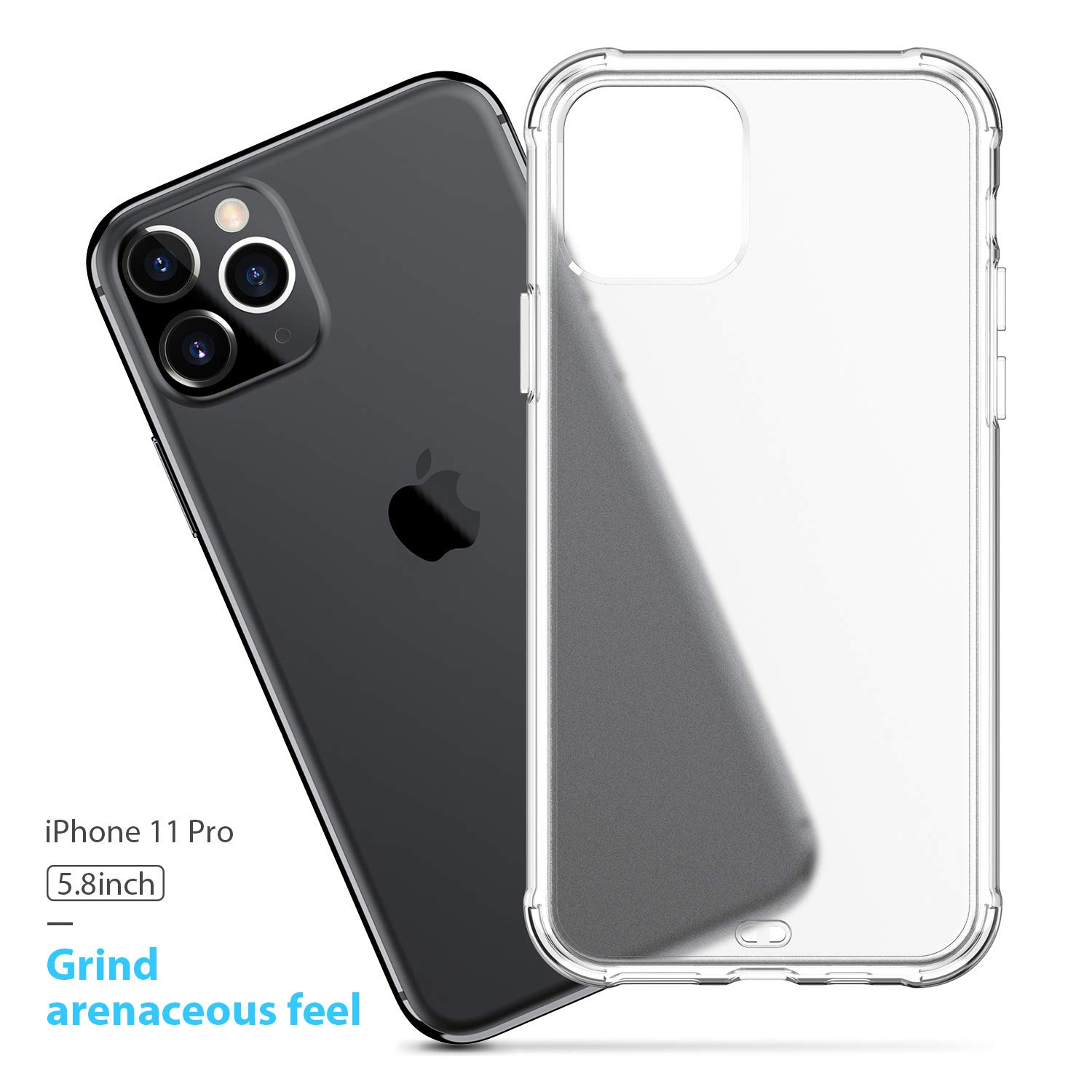 ORIbox Case for iPhone 11 pro, Translucent Matte case with Soft Edges, Shockproof and Anti-Drop Protection Case Designed for iPhone 11 pro, Clear