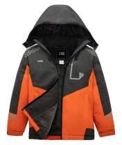 ZSHOW Boy's Hooded Ski Jacket Outdoor Waterproof Winter Fleece Lined Snow Coat