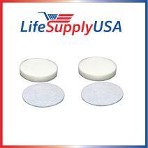 LifeSupplyUSA 2 Foam 2 Felt Filters Compatible with Shark Navigator Professional NV60 NV70 NV71 NV80 NV90 NV95 UV420 Vacuum Cleaners, Part XFF80