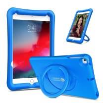 "Fintie Case for iPad Mini 5 2019 / iPad Mini 4, [Magic Ring] 360 Rotating Multi-Functional Grip Stand Shockproof Full-Body Rugged Protective Cover for 7.9"" New iPad Mini 5 / iPad Mini 4, Blue"