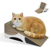 MSBC Durable Cat Scratcher Cardboard, Cat Scratch Pad, Recyclable Corrugated Scratcher, Reversible Scratch Box, Scratcher Lounge for Furniture Protection, Kitty Training Toy