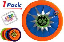 """JA-RU Soft Frisbee Throwing Disc Splash Fun Aqua Flyer 12"""" (1 Assorted) Flying Discs for Kids & Adult Toys. Safe Easy and Professional. 1031-1"""