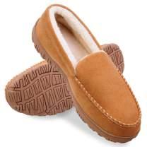 Shoeslocker Men Slippers Indoor Outdoor Anti-Slip Slippers for Men Warm Plush