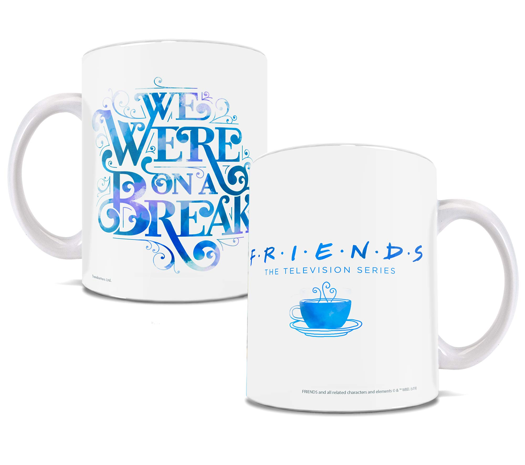 Friends the Television Show – We Were on a Break – OFFICIAL MERCHANDISE – 11 oz White Ceramic Coffee or Tea Mug – Perfect for Gifting or Collecting