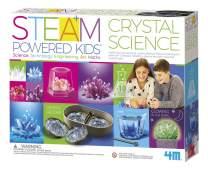 4M Deluxe Crystal Growing Combo Steam Science Kit - DIY Geology, Chemistry, Art, STEM Toys Gift for Kids & Teens, Boys & Girls