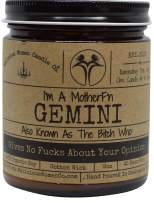Malicious Women Candle Co - Gemini The Zodiac Bitch - Gives No Fucks About Your Opinion, Exotic Hemp (Cannabis Flower & Patchouli), All-Natural Organic Soy Candle, 9 oz