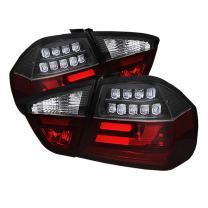 Spyder Auto (ALT-YD-BE9006-LBLED-G2-BK) BMW 3 Series E90 4-Door Black Light Bar Style LED Tail Light with Indicator - Pair