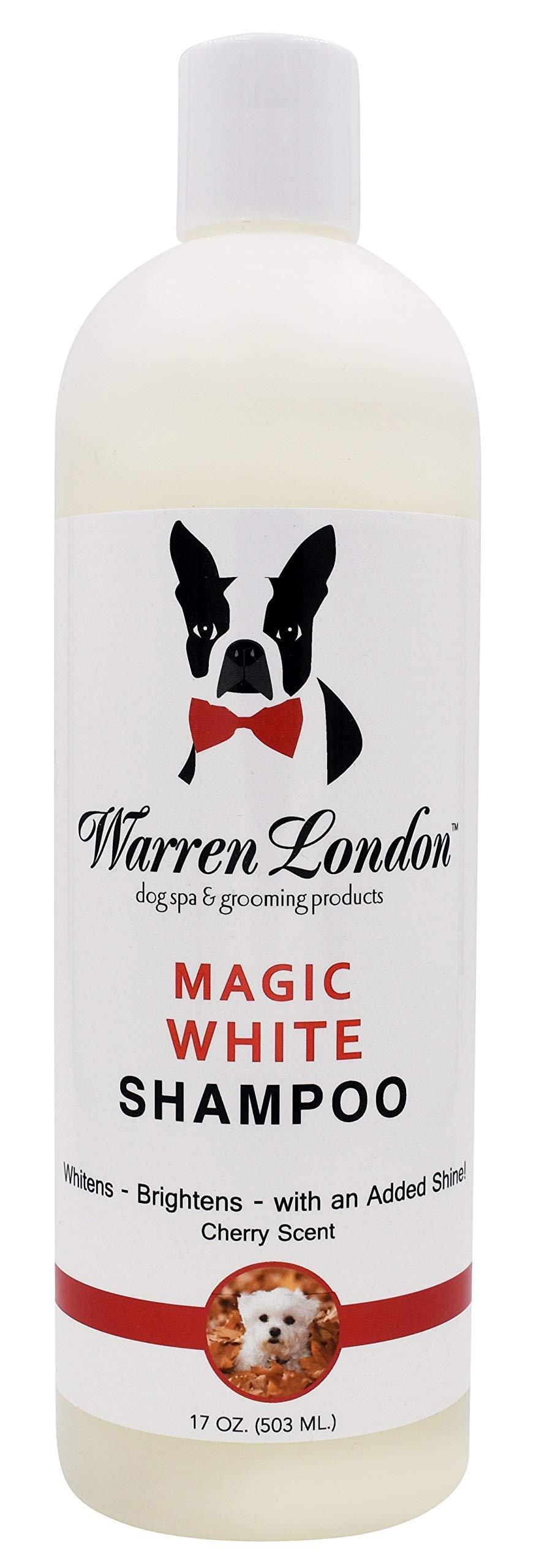Warren London Magic White Brightening Dog Shampoo - Enhances Natural Color & Shine of All Coats - 17 oz & 1 Gallon