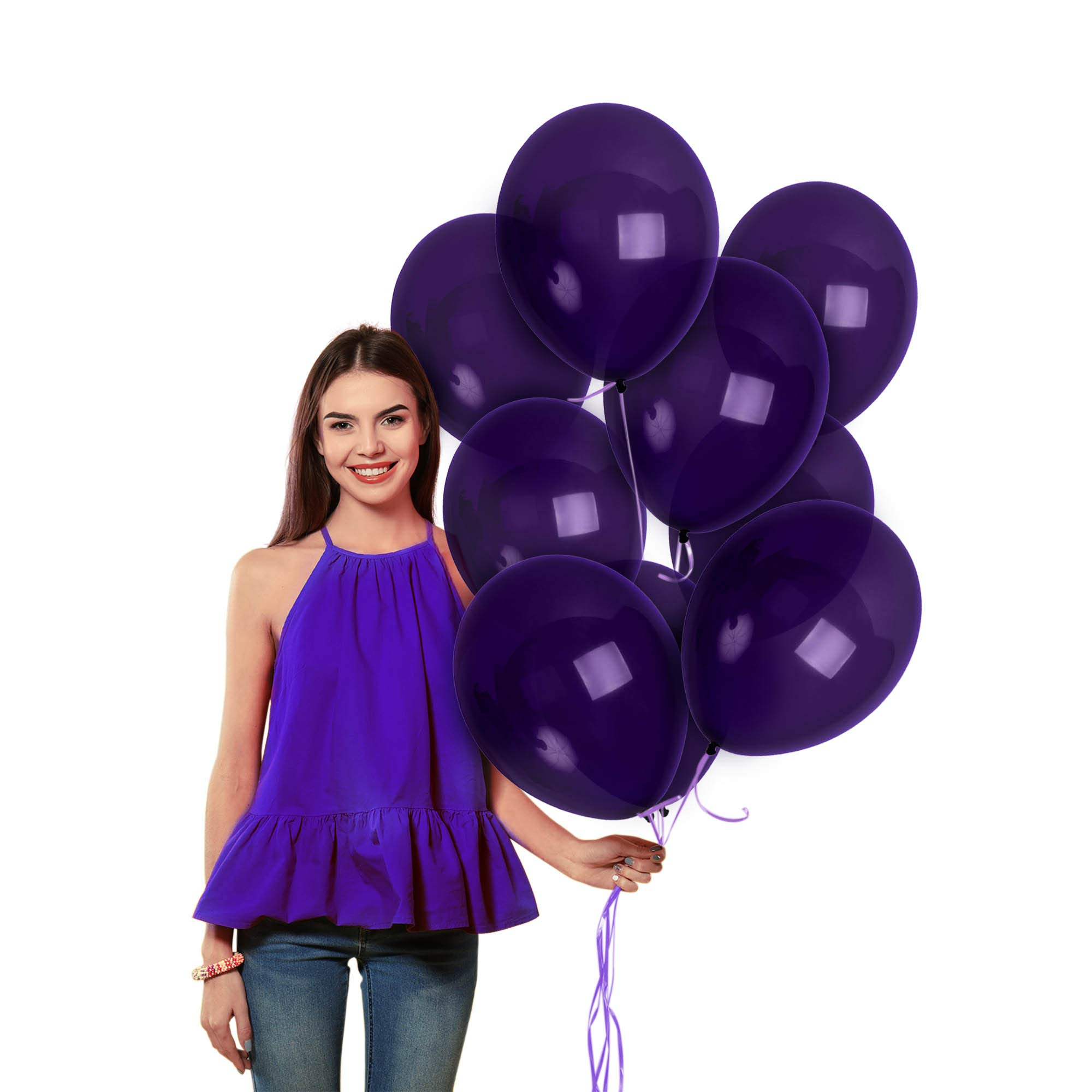Matte Solid Dark Purple Balloons Pack of 36 Thick Opaque Violet Latex 12 Inch for Engagement Wedding Bridal Shower Bachelorette Birthday Graduation Party Supplies