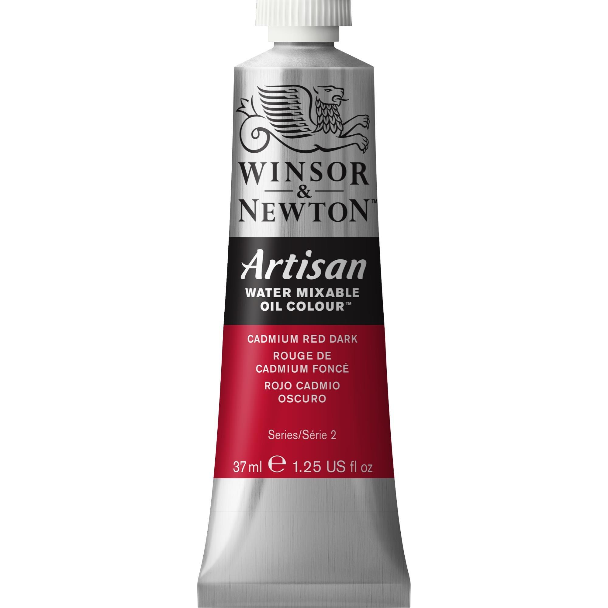 Winsor & Newton Artisan Water Mixable Oil Colour, 37ml Tube, Cadmium Red Dark