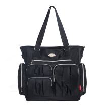 SoHo Time Square Diaper Bag Tote 9Pc, Black