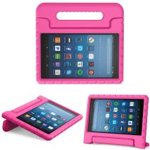 MoKo Case for All-New Amazon Fire HD 8 Tablet (6th/7th/8th Generation, 2016/2017/2018 Release) Kids Shock Proof Convertible Handle Light Weight Protective Stand Cover Case for Fire HD 8,Magenta