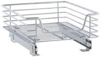 Household Essentials Sliding Chrome Cabinet Organizer, 14 1/2-Inch by 17 3/4-Inch