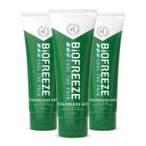 Biofreeze Pain Relief Gel, 4 oz. Tube, Colorless, Pack of 3 (Packaging May Vary)
