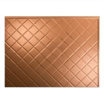 "FASÄDE Quilted Decorative Vinyl Backsplash Panel in Polished Copper (One 18"" x 24"" Panel)"