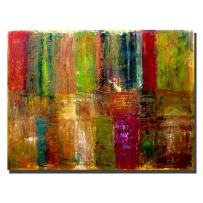 Color Panel Abstract by Michelle Calkins, 24x32-Inch Canvas Wall Art