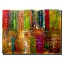 Color Panel Abstract by Michelle Calkins, 18x24-Inch Canvas Wall Art