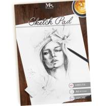 Sketch Pad – 60 Sheets, 8.5 x 11 Inches, 160gsm - Premium Quality, Smooth, Thick Drawing Paper for Your Art Supplies - Perfect for Sketching, Stenciling, Art Journal and More – Mozart Supplies