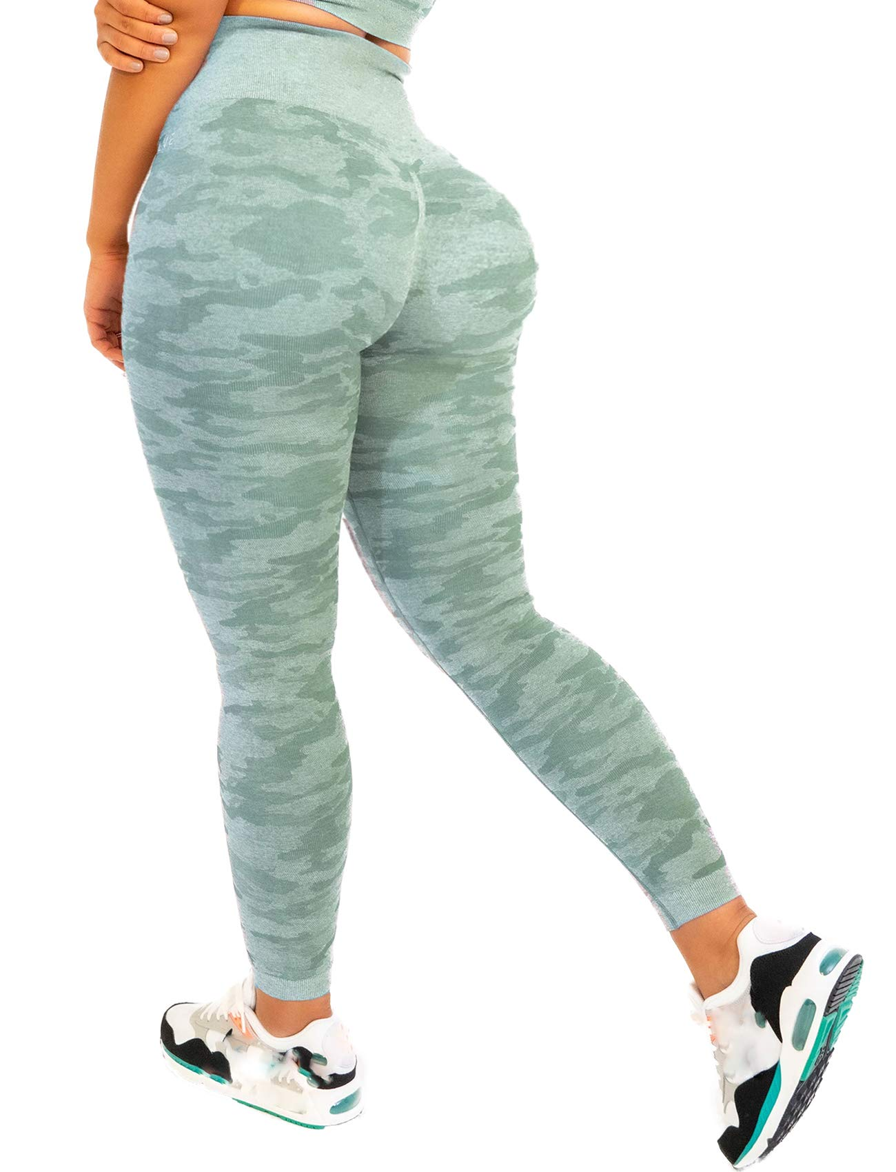 SEASUM Women Seamless Leggings High Waist Workout Yoga Pants Tummy Control Tight