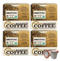 Fresh Roasted Coffee LLC, Organic Dominican Republic Coffee Pods, Medium Roast, Direct Trade, USDA Organic, Capsules Compatible with 1.0 & 2.0 Single-Serve Brewers, 72 Count