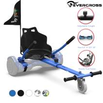 EverCross Hoverboard Seat Attachment, Hoverboard Attachment, Hoverboard Accessories Compatible with 6.5'' 8'' 8.5'' 10'' Self Balancing Scooter for All Ages Adjustable Frame Length