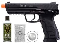 Wearable4U Elite Force H&K Heckler & Koch 45 GBB(KWA) Airsoft Pistol Green Gas Blowback BB Air Soft Gun Bundle