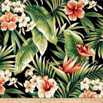 Richloom Fabrics Solarium Outdoor Cypress Fabric by The Yard, Midnight