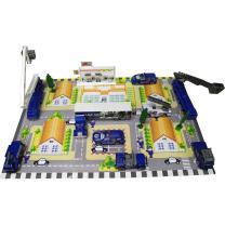 """Die Cast """"City Police Force"""" Vehicle and Town Set with 40 Unique Police Cars and Scenic Pieces along with City Scene Play Mat, Tons of Fun, Great for Kids by Dimple"""