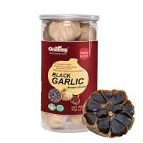 ONETANG Black Garlic Natural Fermented Black Garlic Multiple Cloves 90 Days Ready to Eat Salad High in Antioxidants 7.05 oz( 200G)