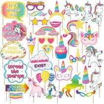Sterling James Co. Unicorn Themed Party Photo Props - Unicorn Birthday Decorations, Favors and Supplies