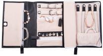 ELOI Travel Jewelry Organizer Black Jewelry Case Vegan Leather Bag Jewelry Storage