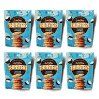 THINSTERS Cookies Toasted Coconut, 4 Ounce (Pack of 6), Non GMO