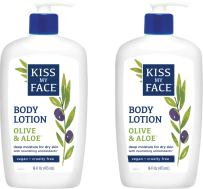 Kiss My Face Olive & Aloe Body Lotion, 16 Ounce, 2 Count