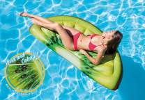 "Intex Kiwi Slice Inflatable Mat with Realistic Printing, 70"" X 33.5"""