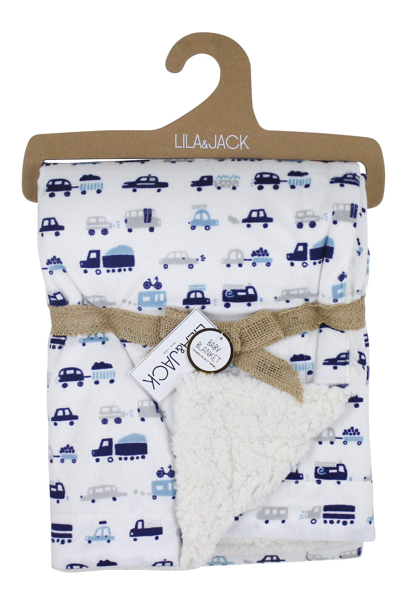 Lila and Jack Soft Baby Blanket - Soft Minky Blanket Perfect, Crib Blanket, Baby Car Blanket & More. Plush Blanket Perfect for Newborns and Toddlers (Cars)
