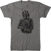 Punk Boba Fett Men's Modern Fit Tri-Blend T-Shirt