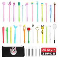 25 Piece Cute Cartoon Gel Ink Pens Assorted Style Writing Pens for Kids Adults Office School Party Gift Supplies
