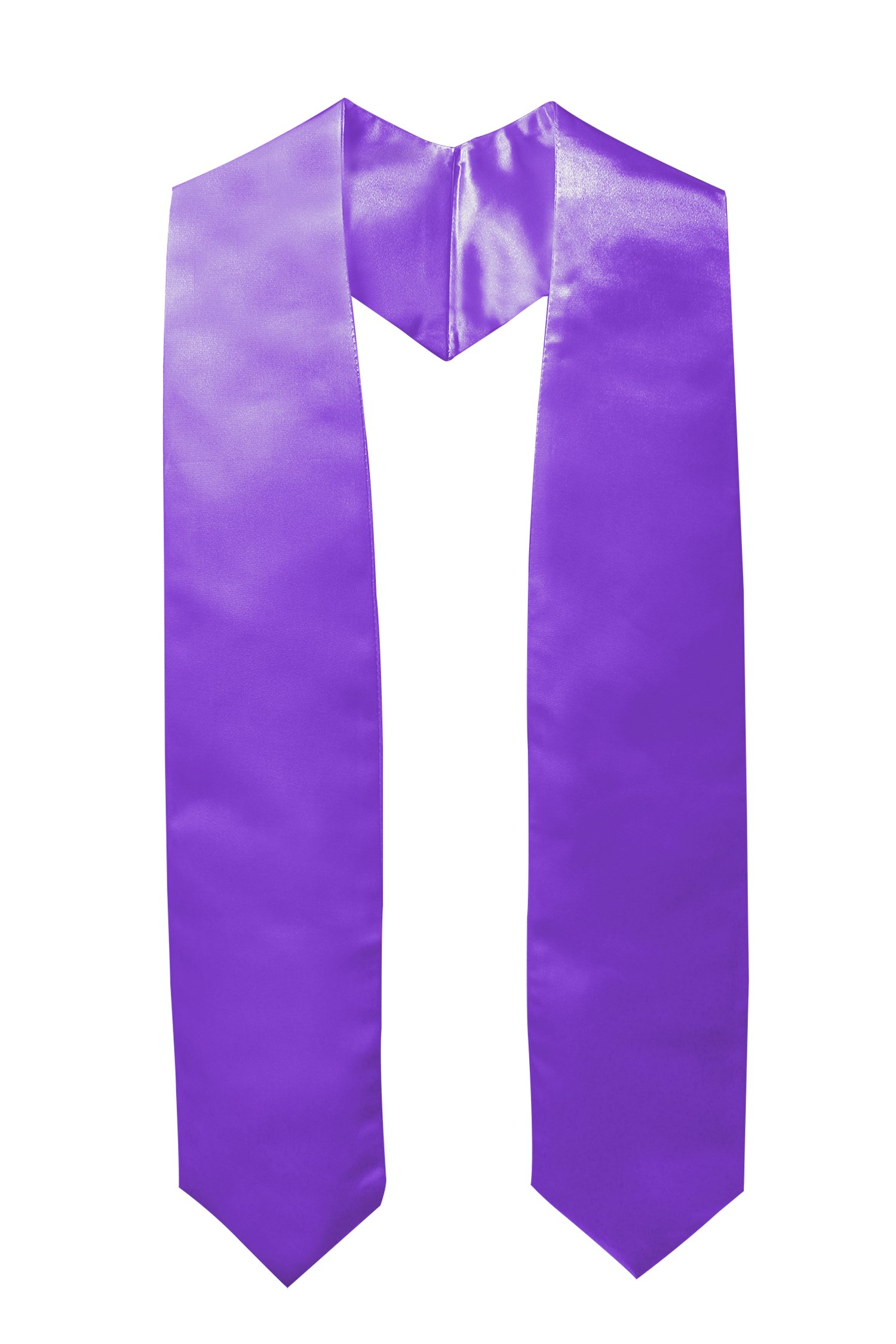 GraduationMall Unisex Adult Plain Graduation Stole Sash 60""