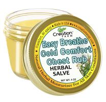 Creation Farm Easy Breathe Chest Rub- Natural Herbal Alternative for Soothing Cough, Congestion, Colds, Larger 4 oz Jar