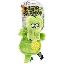 Hear Doggy! Flattie with Chew Guard Technology Ultrasonic Squeaker Dog Toys