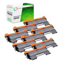 TCT Premium Compatible Toner Cartridge Replacement for Brother TN-450 TN450 Black High Yield Works with Brother HL-2220 2230 2240 2270 MFC-7360 7860DW DCP-7060 7070DW Printers (2,600 Pages) - 8 Pack