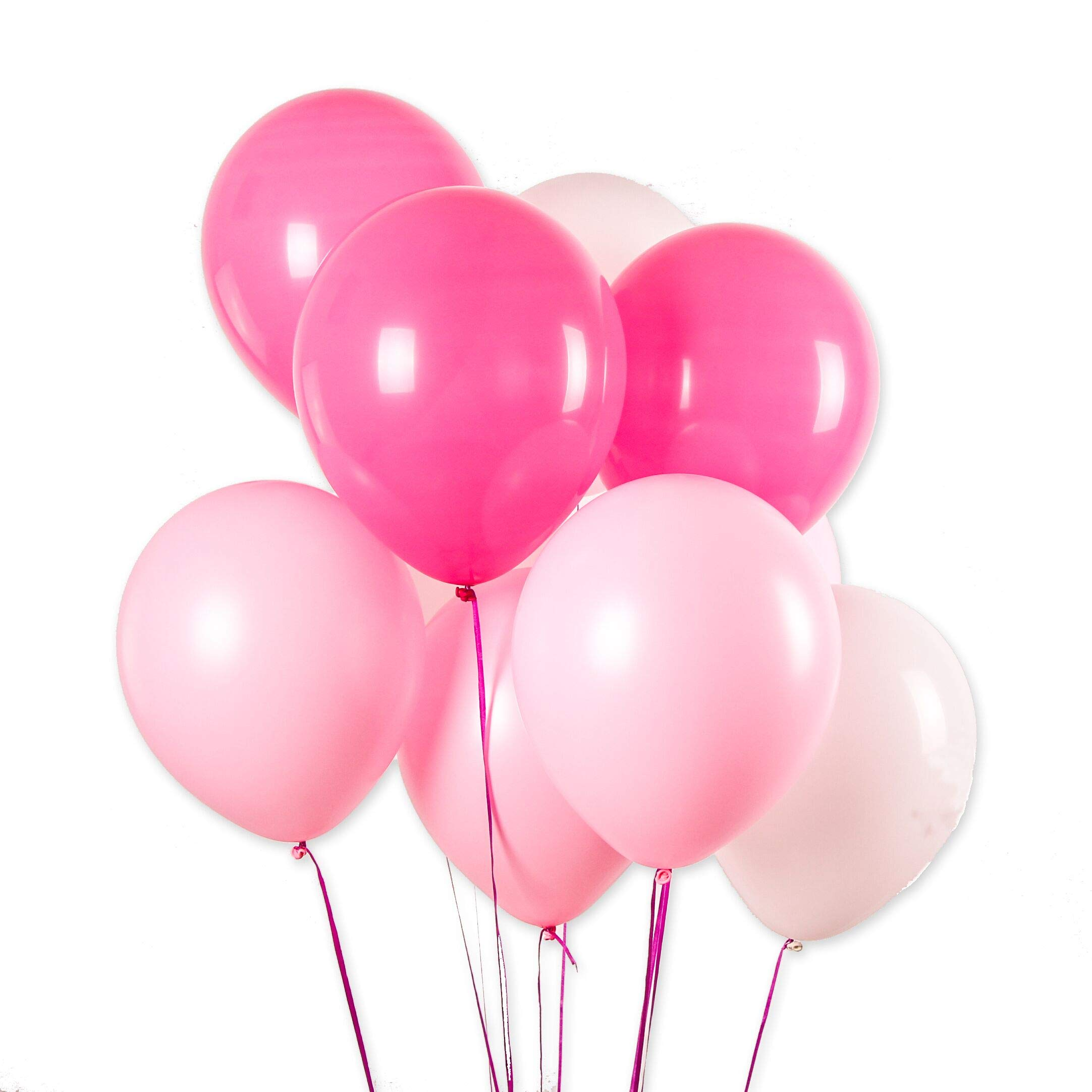 Valentine's Day Balloon,100 Pcs 12 inch 3.2 g Thicken Pearlized Latex Balloons for Girl Birthday Party Wedding Decorations and Proposal Romantic Party Supplies (White+Pink Balloons+Rose Red Balloons)