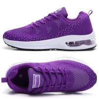 TSIODFO Jogging Shoes for Women Trail Running Shoes mesh Breathable Comfort Fashion Sport Athletic Walking Sneakers Ladies Runner Jogging Shoe Casual Tennis Trainers Purple Size 8