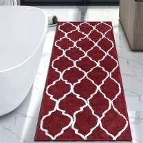 "HEBE Extra Large Bathroom Rug Mat Runner Non Slip Bath Rug Bath Mat Runner for Bathroom 70""x27.5"" Microfiber Moroccan Bathroom Shower Rug Runner Area Rug Machine Washable"