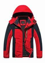 MAGCOMSEN Men's Hooded Windproof Water Resistant Rain Jacket Windbreaker 5 Pockets for Hiking,Fishing,Runing