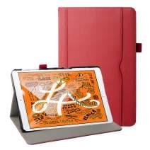 Grifobes iPad Mini 5 Case 2019,iPad Mini 4 Case,Premium Leather Slim Multi-Angle Viewing Stand Folio Cover Protective Case with Auto Wake/Sleep for iPad Mini 5th Generation 2019,Red