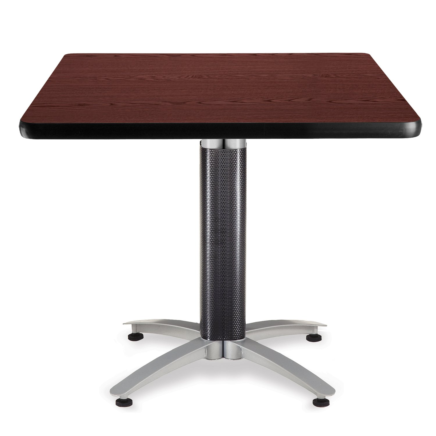 """OFM Core Collection 36"""" Multi-Purpose Square Table with Metal Mesh Base, in Mahogany (KMT36SQ-MHGY)"""