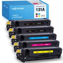 MYCARTRIDGE Remanufactured Toner Cartridge Replacement for HP 131X 131A CF210X CF210A CF211A CF212A CF213A Laserjet Pro 200 M251nw M276nw M251n M276n (Black Cyan Yellow Magenta, 5-Pack) (V-131A-5P)