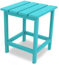 "POLYWOOD ECT18AR Long Island 18"" Side Table, Aruba"