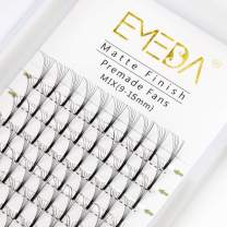 Premade Fans Volume Lash Extensions C Curl D Curl 0.10 Mix Tray 9mm 10mm 11mm 12mm 13mm 14mm 15mm 16mm Mixed Trays .10 6D Pre Fanned Russian Cluster Eyelashes by EMEDA (6D 0.10 C 17mm )